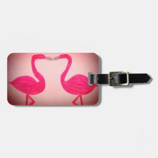 Pink Flamingos Luggage Tags