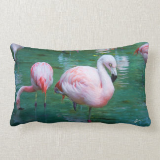 Pink Flamingos Lumbar Cushion