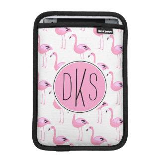 Pink Flamingos | Monogram iPad Mini Sleeve