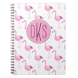 Pink Flamingos | Monogram Notebooks
