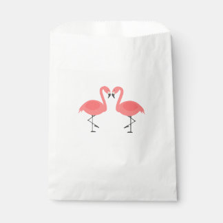 Pink Flamingos Party Wedding Bridal Shower Favour Bags