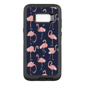 Pink Flamingos Pattern on Any Color Background OtterBox Defender Samsung Galaxy S8+ Case