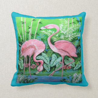 Pink Flamingos Pillow