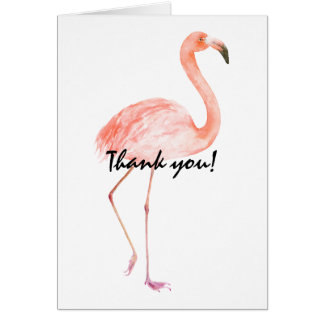 Pink Flamingos Thank you Card