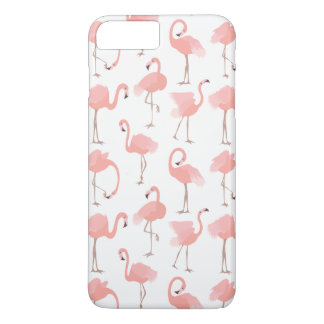 Pink Flamingos Tropical Bird Pattern iPhone 8 Plus/7 Plus Case