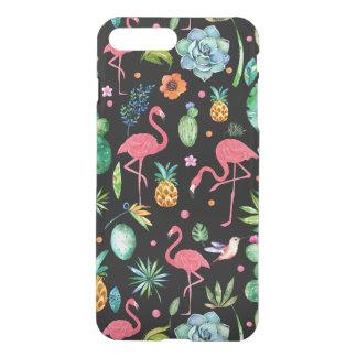 Pink Flamingos & Tropical Flowers Collage GR2 iPhone 8 Plus/7 Plus Case