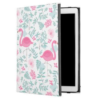 "Pink Flamingos & Tropical Flowers iPad Pro 12.9"" Case"
