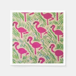Pink Flamingos Tropical Pattern Disposable Napkin