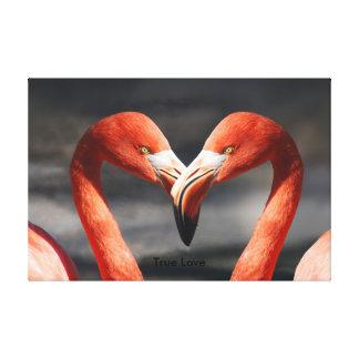 PINK FLAMINGOS - TRUE LOVE CANVAS PRINT
