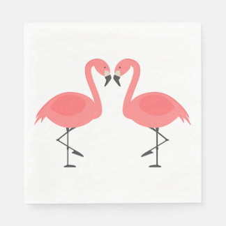 Pink Flamingos  Wedding, Bridal Shower Luau Summer Disposable Napkins