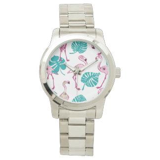 Pink Flamingos Wrist Watch