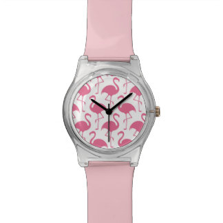 Pink Flamingos Wristwatch
