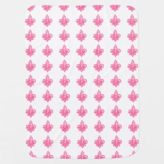 Pink Fleur De Lis baby blanket (Girl)