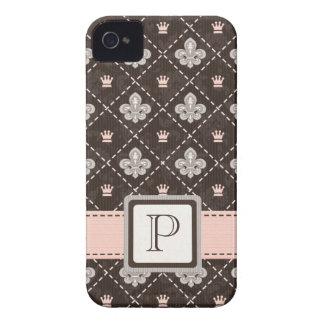Pink Fleur de Lis Blackberry Bold Case Cover