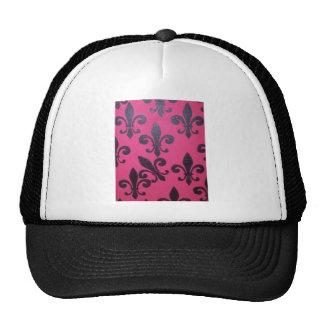 Pink Fleur De Lis Cap