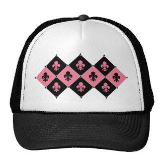 Pink Fleur de Lis Hat