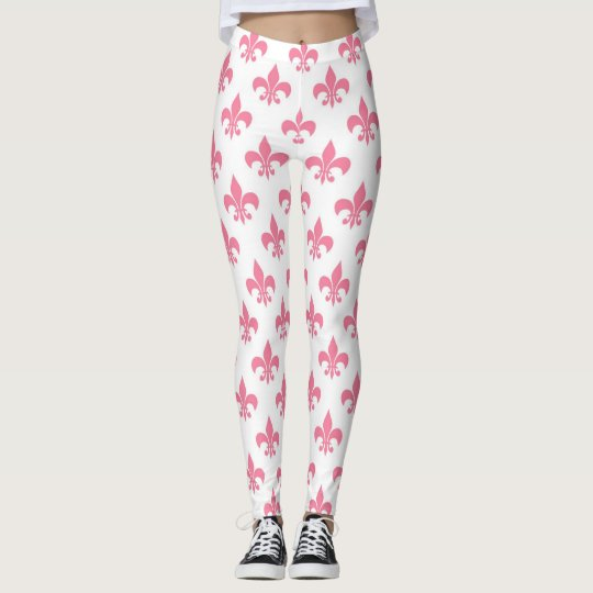 Pink Fleur-de-lis Leggings