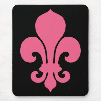 Pink Fleur de Lis Mouse Mat