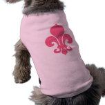 Pink Fleur de Lis Sleeveless Dog Shirt