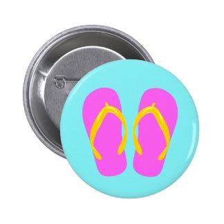 Pink Flip-Flop 6 Cm Round Badge