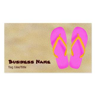 Pink Flip Flop Beach Business Cards