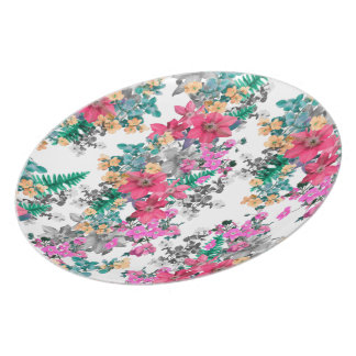 Pink Flora Light by Zala Farah Plate