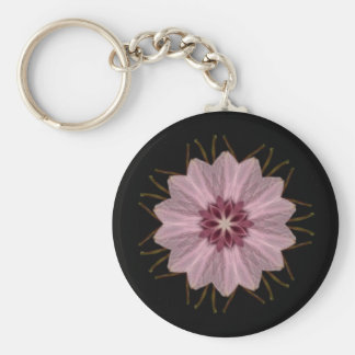 Pink Floral Abstract Key Chains