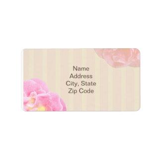 Pink Floral Address Label Nicole