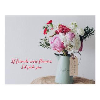 Pink Floral Assortment Postcard