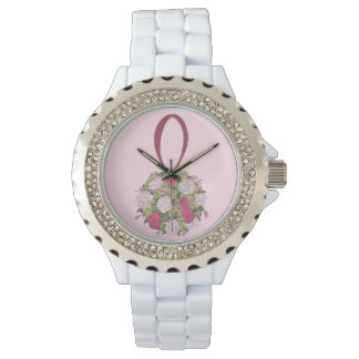 Pink Floral Bouquet Bride Wedding Bridesmaid Watch