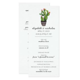 Pink Floral Cactus Card