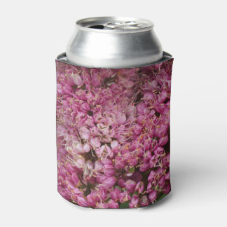 Pink floral can cooler