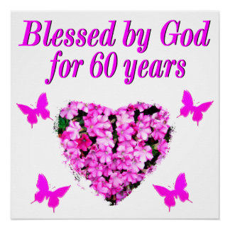 PINK FLORAL CHRISTIAN 60TH BIRTHDAY DESIGN
