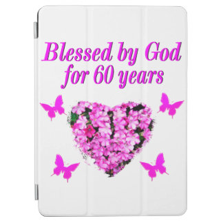 PINK FLORAL CHRISTIAN 60TH BIRTHDAY DESIGN iPad AIR COVER
