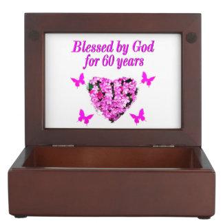 PINK FLORAL CHRISTIAN 60TH BIRTHDAY DESIGN MEMORY BOX