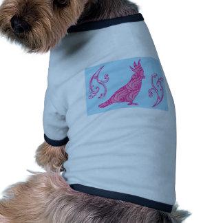 Pink & Floral Cockatoo Ringer Dog Shirt
