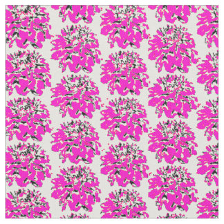 Pink Floral Dahlia Pattern Fabric