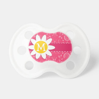 Pink Floral Daisy Pacifiers