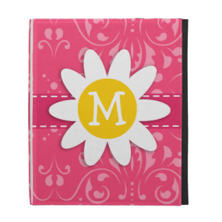 Pink Floral Daisy iPad Folio Cases