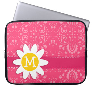 Pink Floral Daisy Computer Sleeves