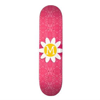 Pink Floral Daisy Custom Skate Board