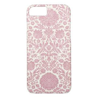 Pink Floral Damask Pattern iPhone 7 Case
