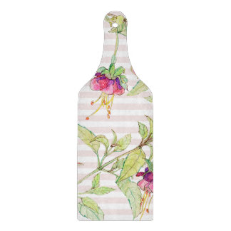 Pink Floral Decorative Glass Chopping Board Paddle
