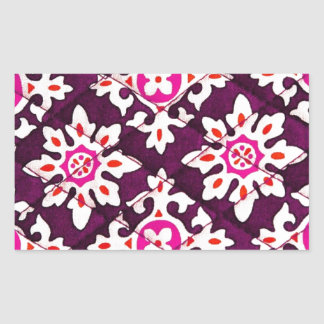 Pink Floral Design Art Glow Gradient Digital Art L Rectangular Sticker