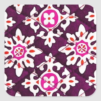 Pink Floral Design Art Glow Gradient Digital Art L Square Sticker