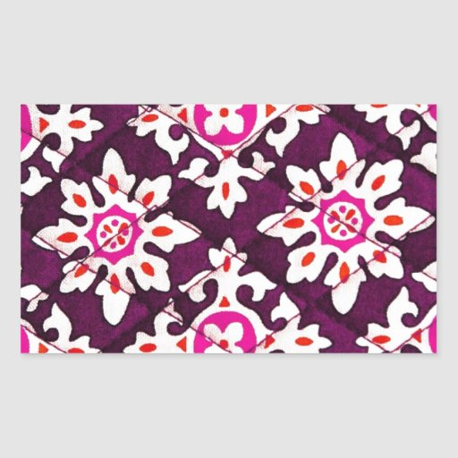Pink Floral Design Art Glow Gradient Digital Art L Rectangle Sticker