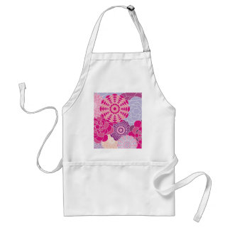 Pink Floral Design Modern Abstract Flowers Apron