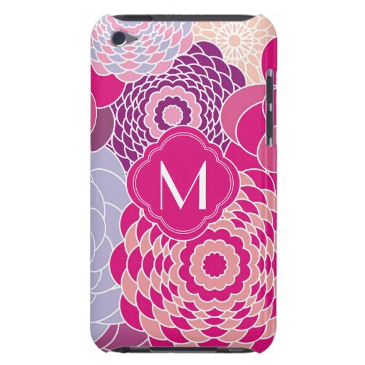 Pink Floral Design Modern Abstract Flowers Barely There iPod Covers