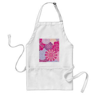 Pink Floral Design Modern Abstract Flowers Standard Apron