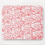 Pink Floral Drawing Mousepad